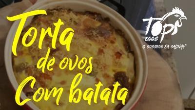 Torta de Ovos com Batata